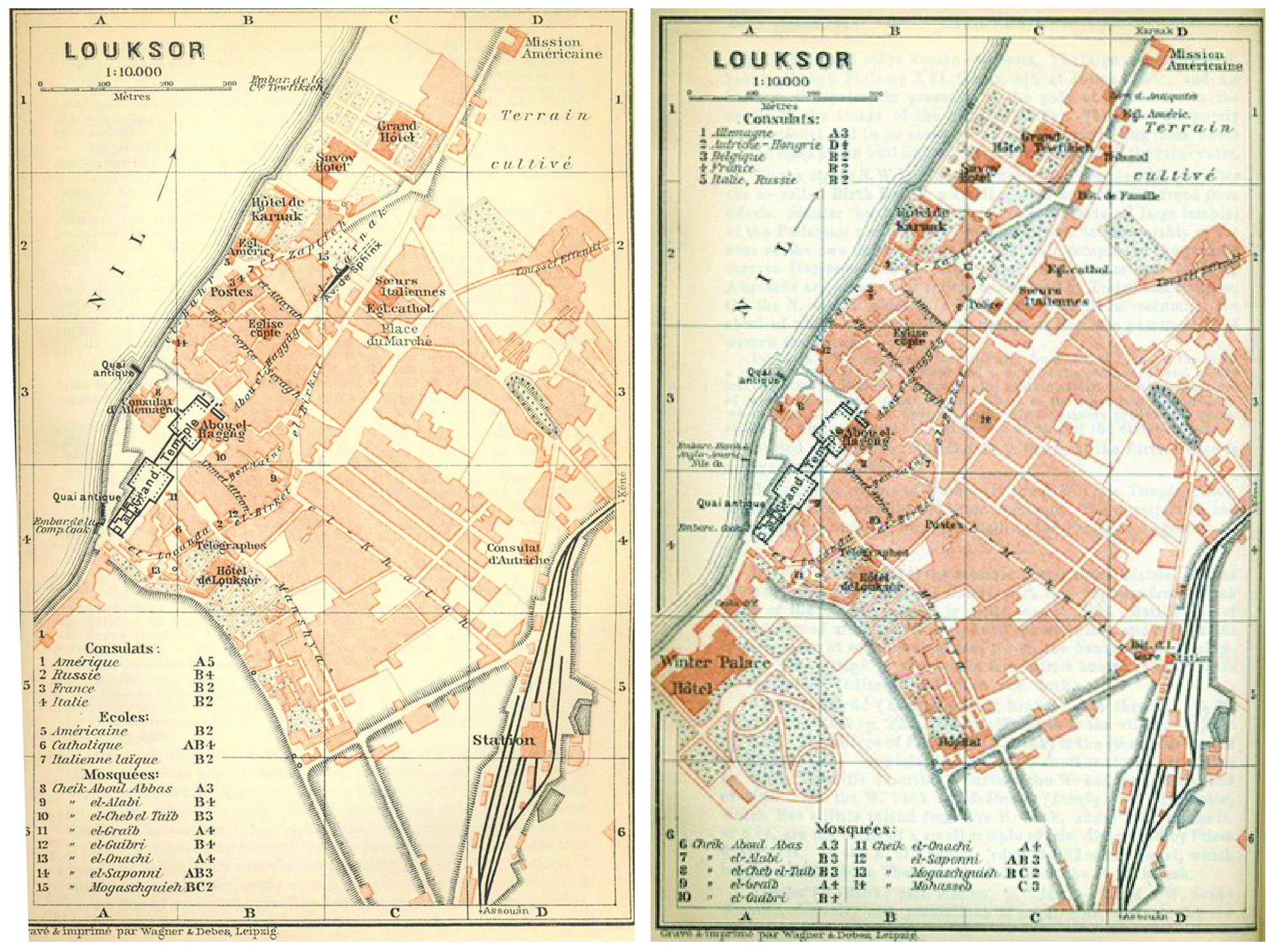 The Winter Palace And Luxor Hotel A Case Of Mistaken Identity - Map of egypt hotels