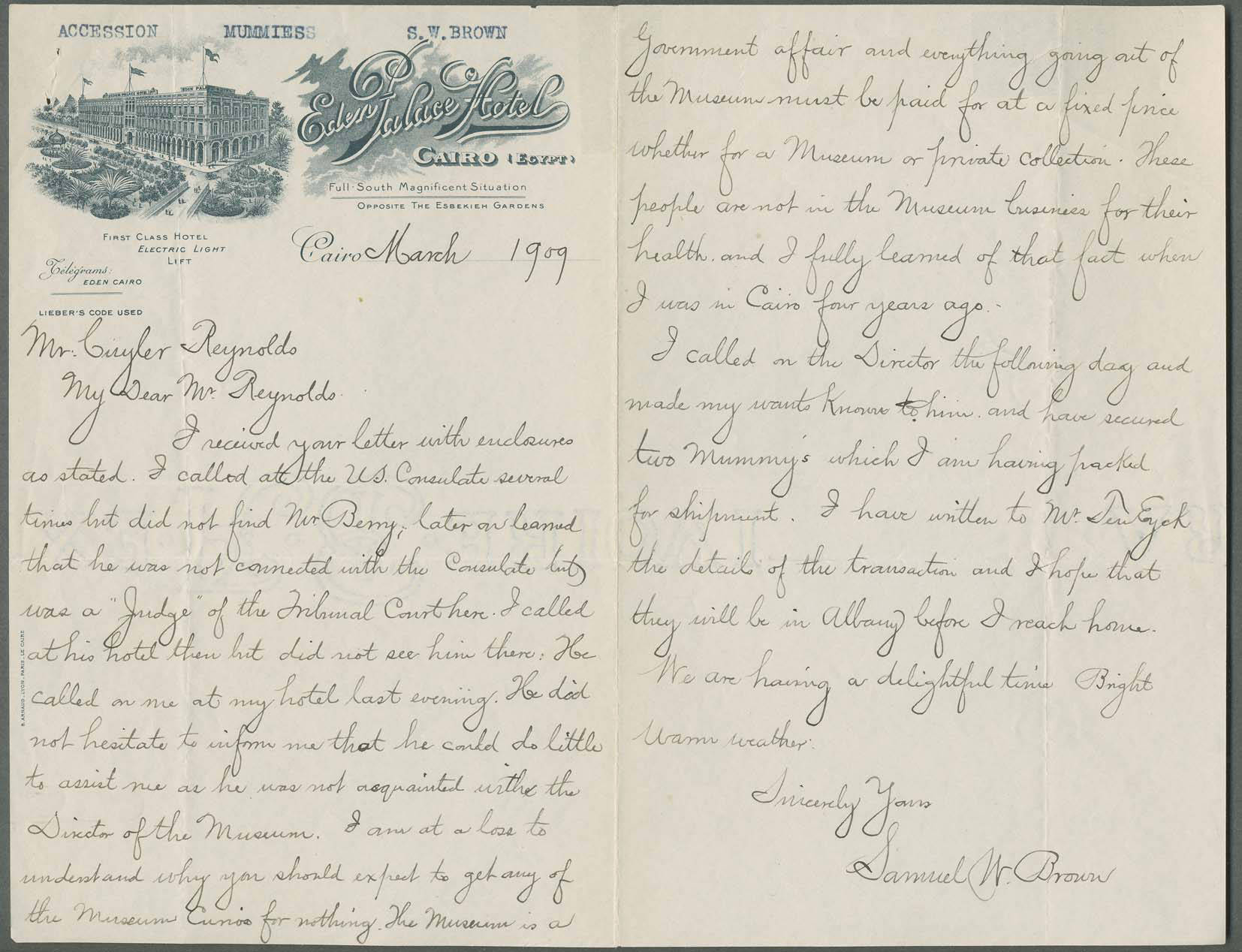 Letter_from_Samuel_W_Brown_to_Cuyler_Reynolds 1909 AIHA