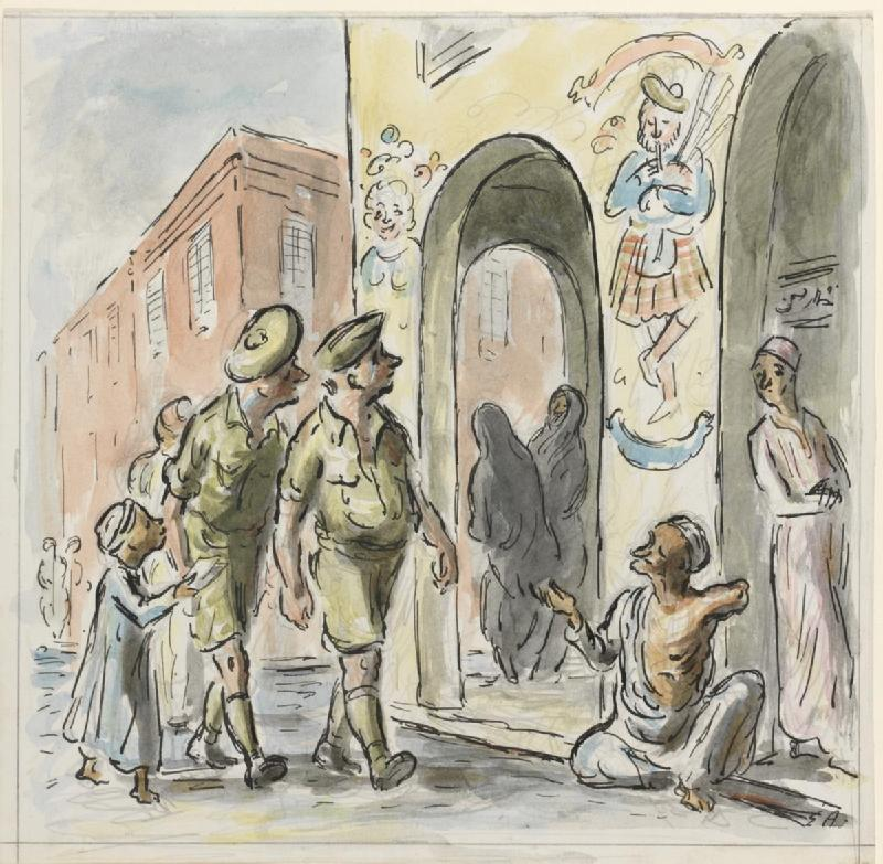 Troops in the Birka by Edward Ardizzone, courtesy of the Imperial War Museum