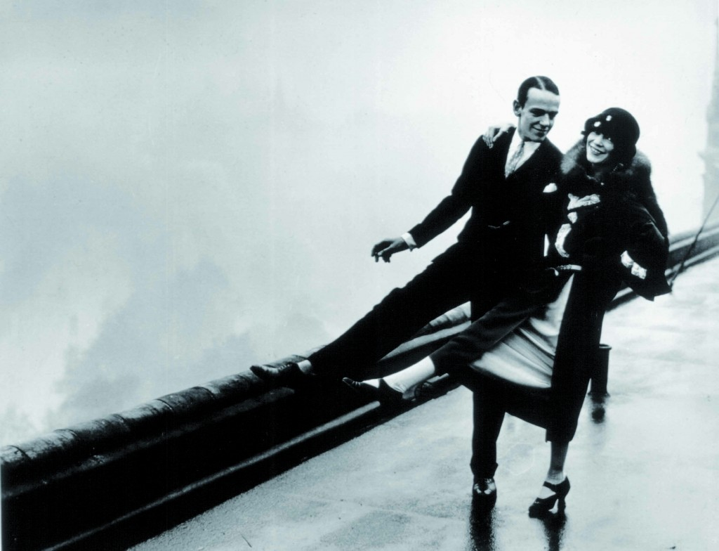 Fred Astaire and sister Adele, also on the roof