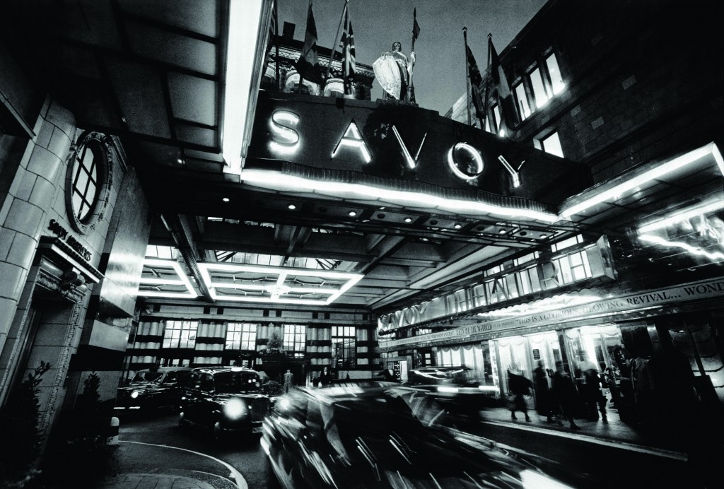 The Savoy entrance, added in 1929 and still a beacon of elegance today