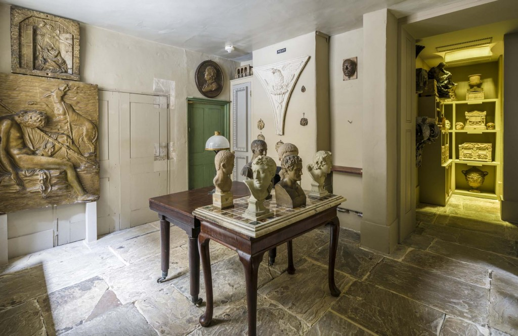 Basement Ante Room in the Soane Museum. Photo_ Gareth Gardner