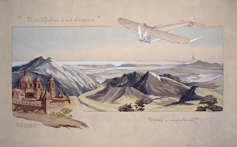 Vedrines flying his 'Borel' monoplane, c 1911.