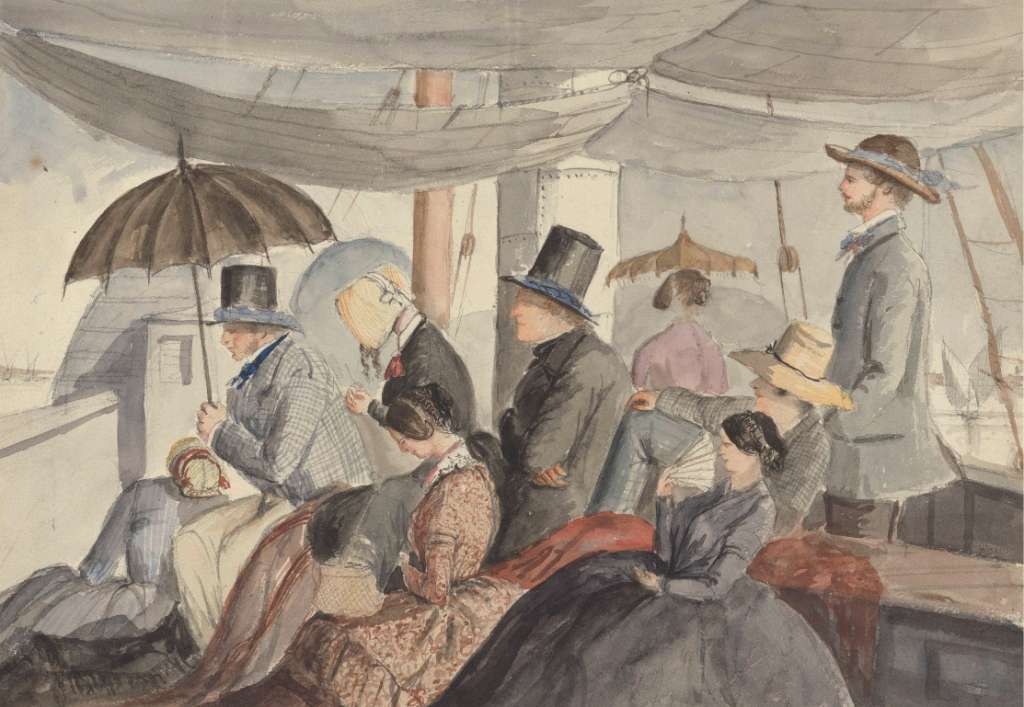 'Passengers Aboard the Nile Steamer' by Charles Dyce, c.1849